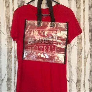 🦋 3/$15 Tampa Bay Buccaneer tee clear bag bundle